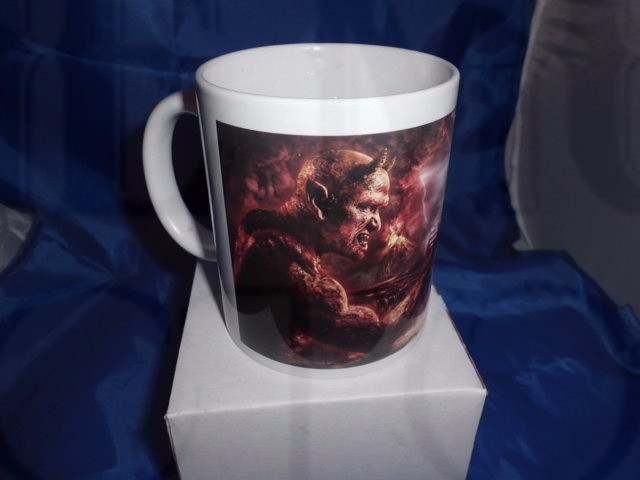 God and the Devil personalised Mug