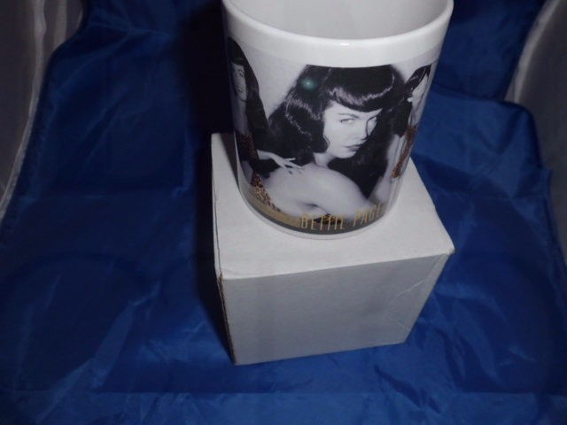 Bettie page leopard skin personalised Mug