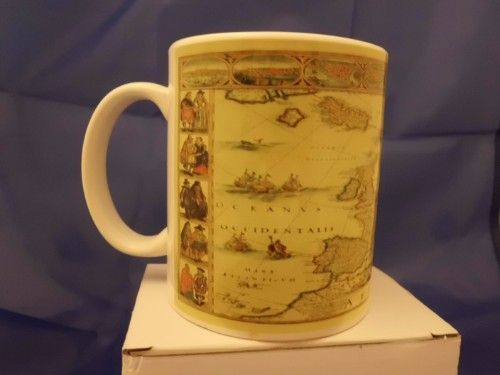 Old Map Printed mug