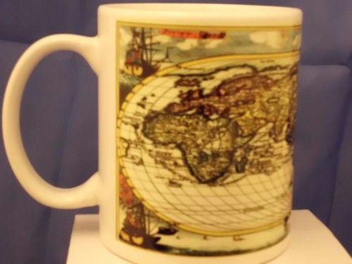 Old World map printed mug