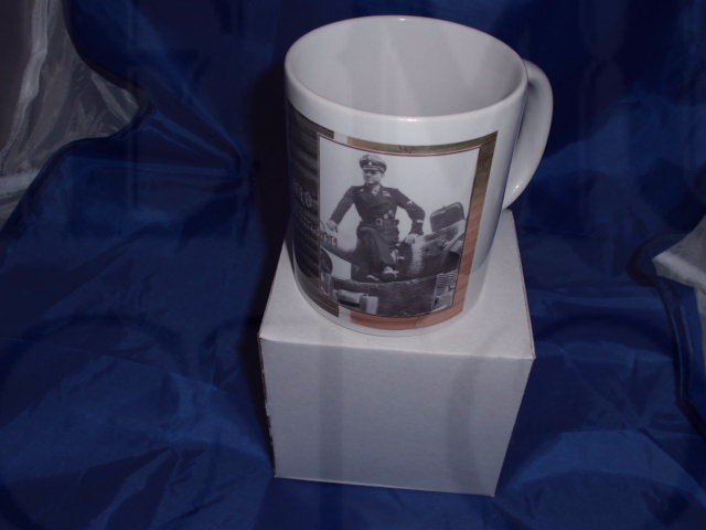 Michael Whittman On His Tiger Tank military mug