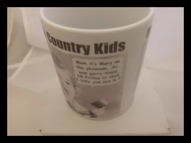 Black country Kids printed mug