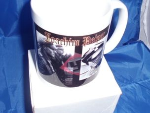 JOACHIM PEIPER WITH BACK AND RED BACKGROUND military MUG