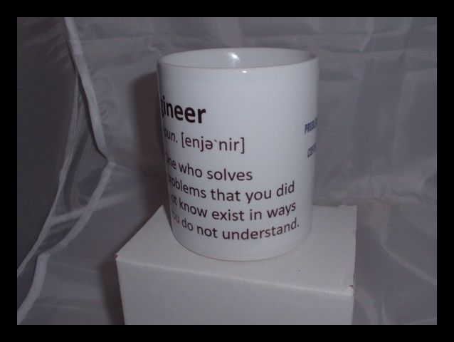 Engineer One who Solves Problems printed mug