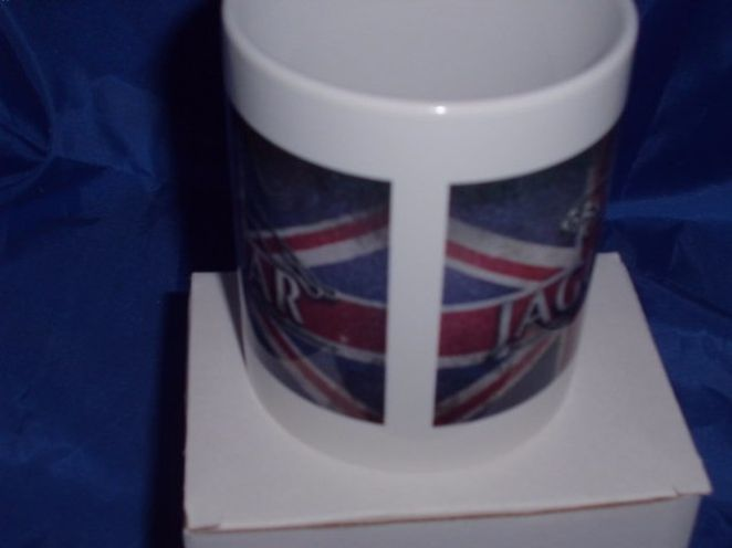 Jaguar Union Jack personalised mug