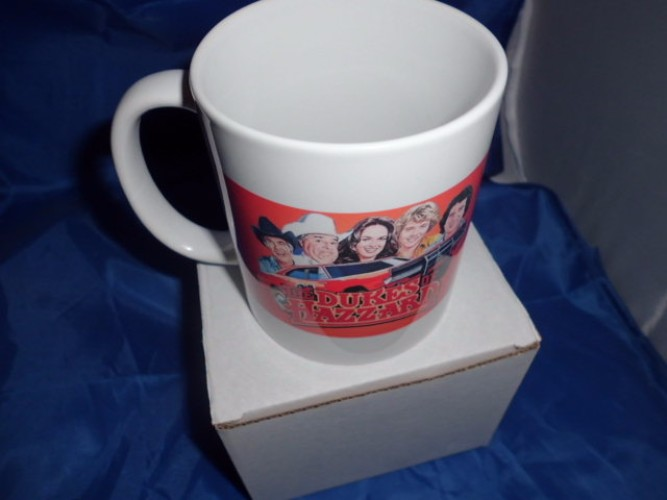 Dukes of Hazard style personalised mug