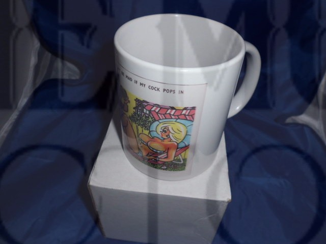 1st Edition Saucy seaside postcard mug