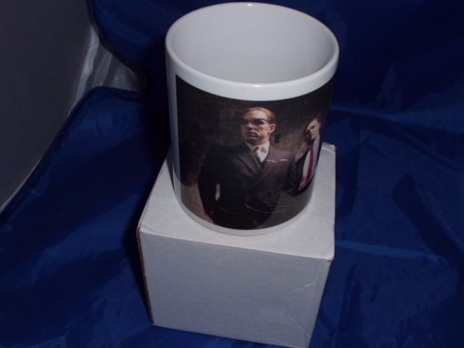 Kray twins Tom hardy in an alley printed mug