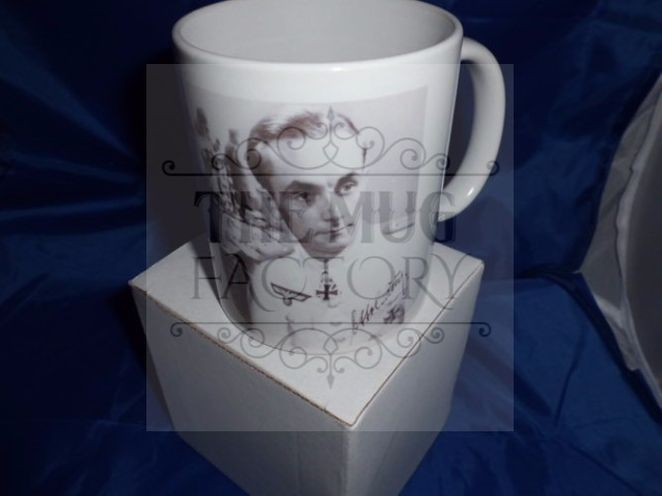 Otto Carius and tank crew military mug