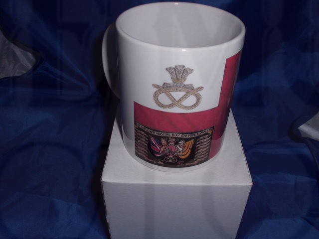 1st Battalion Staffordshire Patriotic military mug