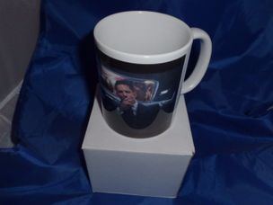 Tom Hardy Kray twins in car printed mug